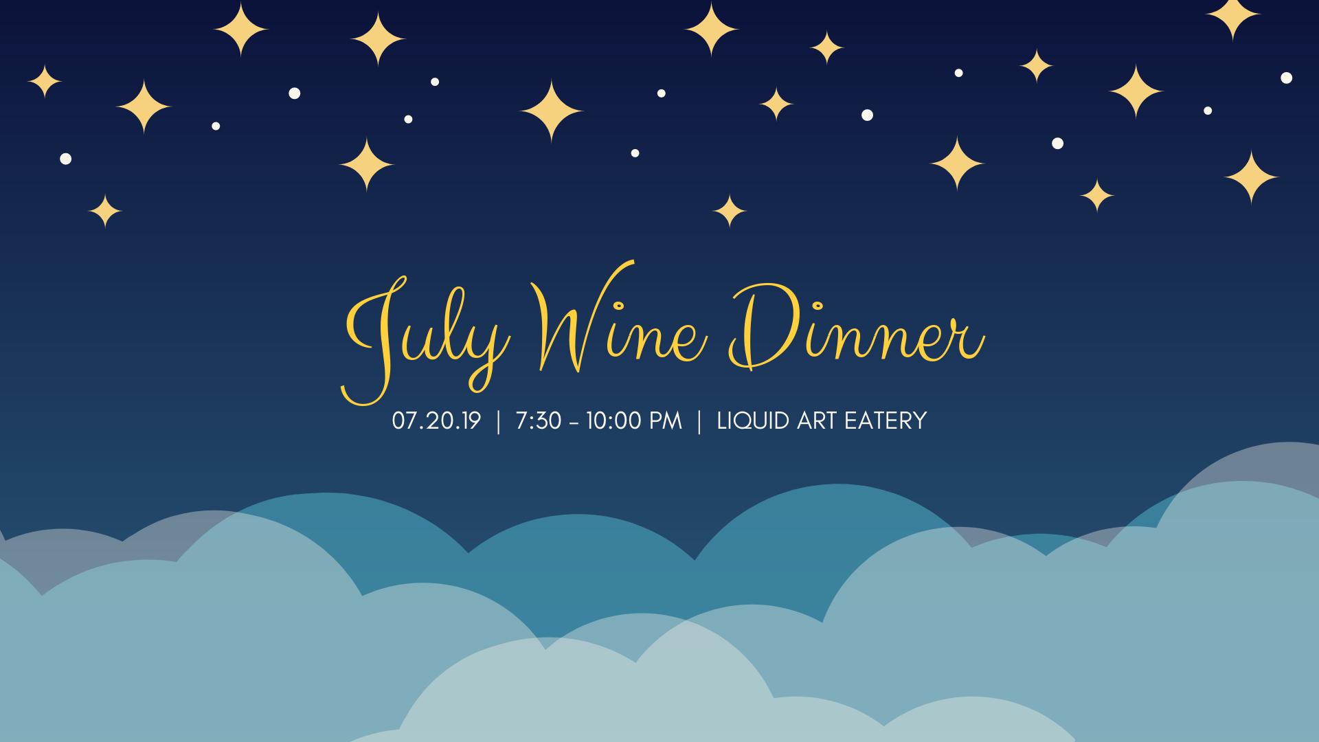 July Wine Dinner