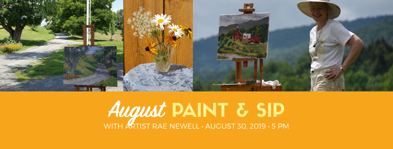 August Paint and Sip with Rae Newell
